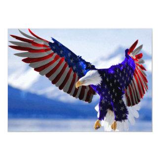 Amerikanisches Eagle 12,7 X 17,8 Cm Einladungskarte
