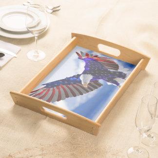Amerikanisches Eagle Serviertablett