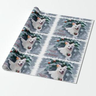 Amerikanisches Eskimohundeweihnachten Geschenkpapier