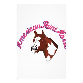 Amerikanisches Farben-Pferd Briefpapier