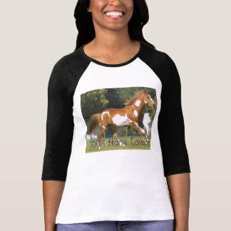 Amerikanisches Farben-Pferd, Pferdeliebhaber 100% T-Shirt