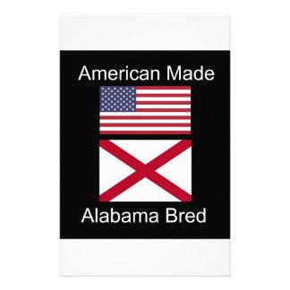 """""""Amerikanisches geborenes. Alabama züchtete"""" Briefpapier"""