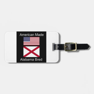 """""""Amerikanisches geborenes. Alabama züchtete"""" Kofferanhänger"""