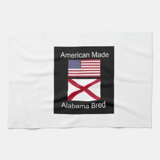 """""""Amerikanisches geborenes. Alabama züchtete"""" Küchentuch"""