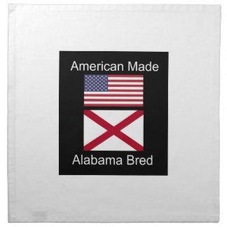 """""""Amerikanisches geborenes. Alabama züchtete"""" Serviette"""