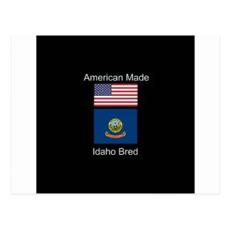 """""""Amerikanisches geborenes. Idaho züchtete"""" Flaggen Postkarte"""