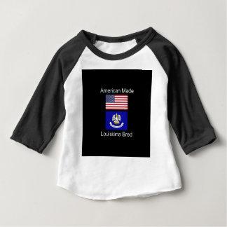 """""""Amerikanisches geborenes. Louisiana züchtete"""" Baby T-shirt"""