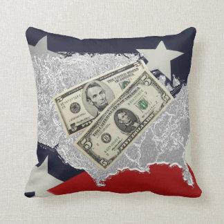 Amerikanisches Geld Mojo Kissen