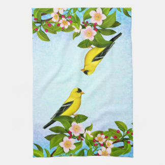 Amerikanisches Goldfinch-Vogel-Handtuch Geschirrtuch