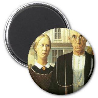 Amerikanisches gotisches runder magnet 5,1 cm