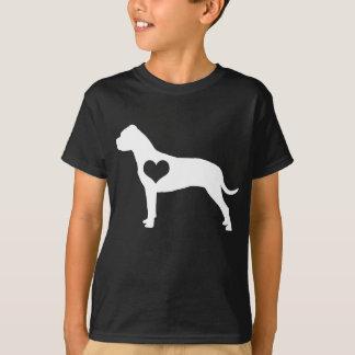 Amerikanisches Gruben-Stier-Terrier-Herz scherzt T-Shirt