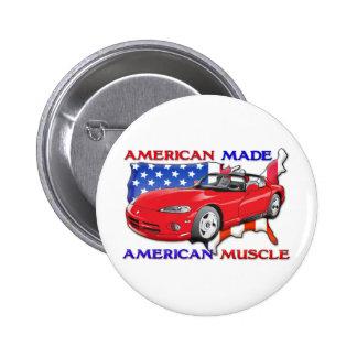 Amerikanisches hergestelltes Sport-Auto Runder Button 5,1 Cm