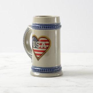 Amerikanisches Herz Bierglas
