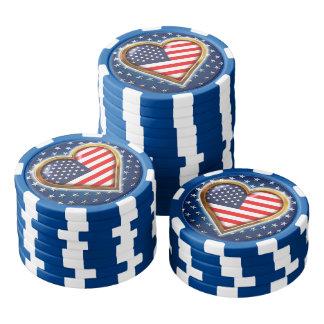 Amerikanisches Herz Poker Chips