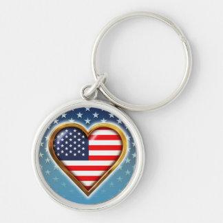 Amerikanisches Herz Schlüsselanhänger