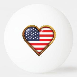Amerikanisches Herz Tischtennis Ball