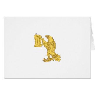 Amerikanisches kahler Adler-Bierstein-Zeichnen Grußkarte
