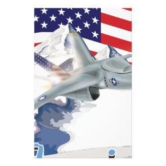Amerikanisches Kampfflugzeug Briefpapier
