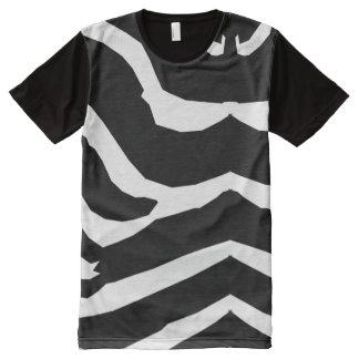 Amerikanisches KleiderShirt des Zebra-Muster-1a T-Shirt Mit Komplett Bedruckbarer Vorderseite