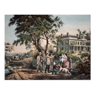 Amerikanisches Landleben - Oktober-Nachmittag, Postkarte