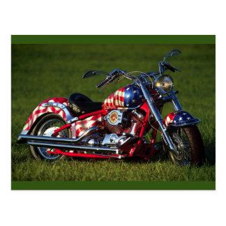 Amerikanisches Motorrad Postkarte
