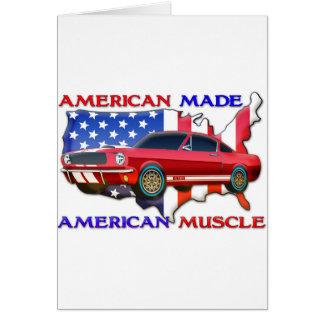 Amerikanisches Muskel-Auto Karte
