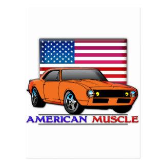 Amerikanisches Muskel-Auto Postkarte