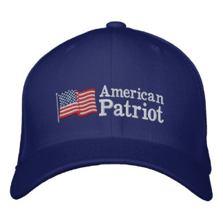 Amerikanisches Patriot-Flagge RB Bestickte Baseballkappen