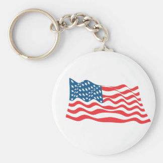 Amerikanisches patriotisches am 4. Juli Standard Runder Schlüsselanhänger