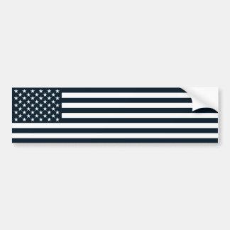 Amerikanisches patriotisches Schwarzes u. weiße Autoaufkleber