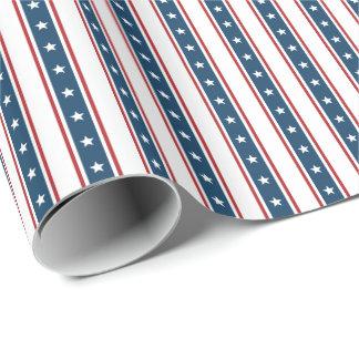 Amerikanisches patriotisches US Flagge-Muster Geschenkpapier