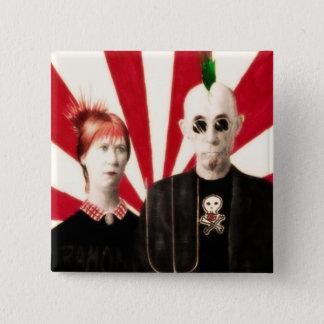 Amerikanisches PunkButt'n Quadratischer Button 5,1 Cm