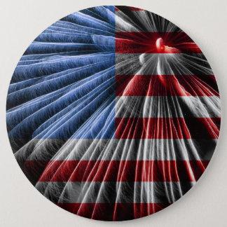 Amerikanisches rotes Weiß u. blauer Runder Button 15,3 Cm