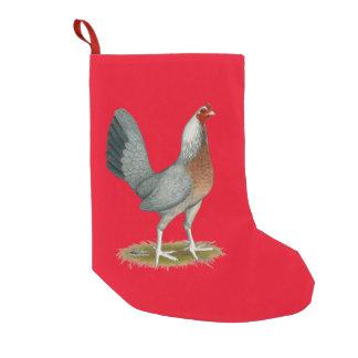 Amerikanisches Spiel-Henne-Silber-Blau Kleiner Weihnachtsstrumpf