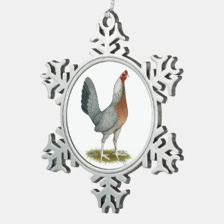 Amerikanisches Spiel-Henne-Silber-Blau Schneeflocken Zinn-Ornament