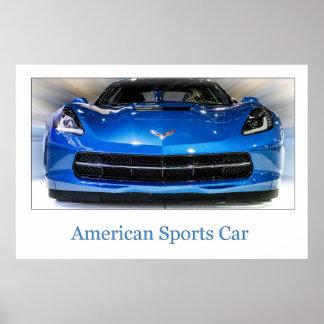 Amerikanisches Sport-Auto Poster