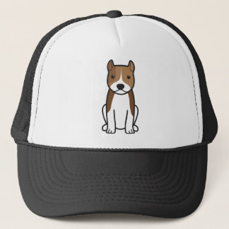 Amerikanisches Staffordshire-Terrier-HundeCartoon Truckerkappe