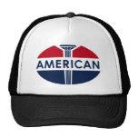 Amerikanisches Tankstellezeichen. Flache Version Truckermütze