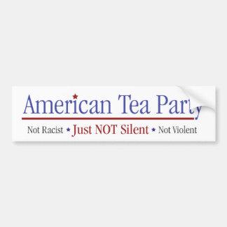 Amerikanisches Tee-Party - gerade nicht still Autoaufkleber