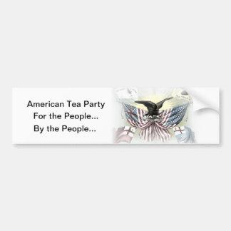 Amerikanisches Tee-Party-politischer Autoaufkleber