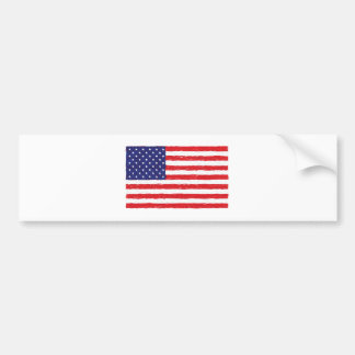 Amerikanisches USA-Flagge *Hand Sketch* wir Flagge Autoaufkleber