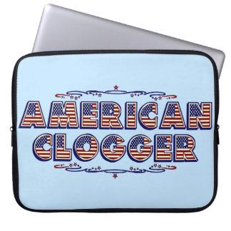 Amerikanisches verstopfenflagge Clogger Tanzen Laptopschutzhülle