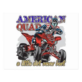 Amerikanisches Viererkabel Postkarte