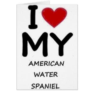 amerikanisches Wasser Spaniel Karte