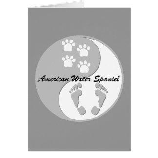 amerikanisches Wasser yin Yang Spaniel Karte