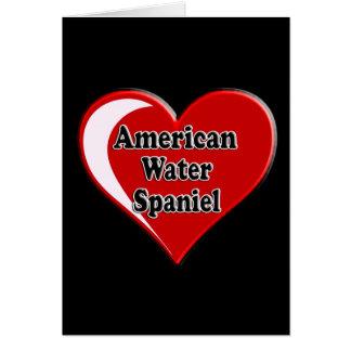 Amerikanisches Wasserspaniel-Herz für Karte