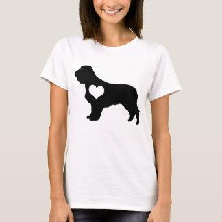 Amerikanisches Wasserspaniel-Herz-T - Shirt