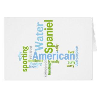Amerikanisches WasserSpaniel Karte
