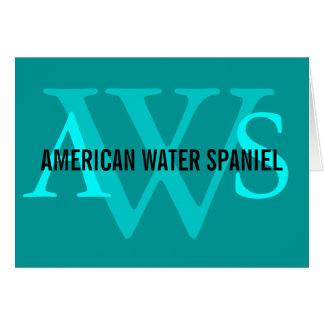 Amerikanisches Wasserspaniel-Monogramm Karte