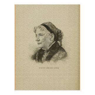 Amerikanisches Zeichnen Autor Harriet Beecher Postkarte